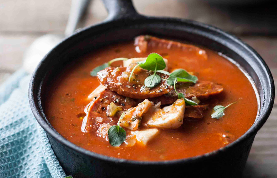 Fish soup with chorizo unearthed recipe for Fish soup cod